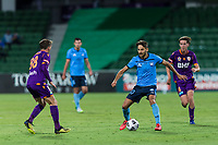 24th March 2021; HBF Park, Perth, Western Australia, Australia; A League Football, Perth Glory versus Sydney FC; Sydney's Milos Ninkovic on the attack