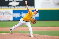 Zach Sterling (34) of the Western Illinois Leathernecks during a game vs. the Missouri State Bears at Hammons Field in Springfield, Missouri;  March 20, 2011.  Photo By David Welker/Four Seam Images