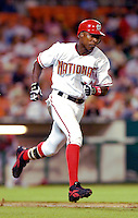 13 June 2006: Alfonso Soriano, outfielder for the Washington Nationals, hustles to first during a game against the Colorado Rockies at RFK Stadium, in Washington, DC. The Rockies defeated the Nationals 9-2 in the second game of the four-game series...Mandatory Photo Credit: Ed Wolfstein Photo..
