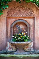 Antigua, Guatemala.  Antigua Hotel Fountain.