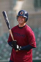 April 26 2009: Chris Minaker of the Lancaster JetHawks before game against the San Jose Giants at Clear Channel Stadium in Lancaster,CA.  Photo by Larry Goren/Four Seam Images