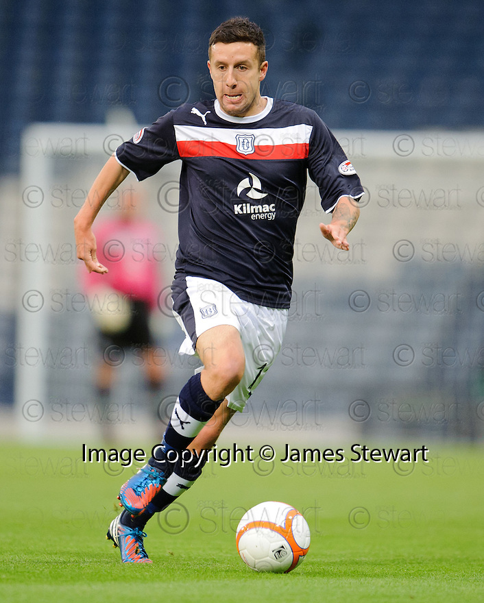 Ryan Conroy : Dundee FC ........29/08/2012   Copyright  Pic : James Stewart.jsp036_qp_v_dundee   .James Stewart Photography 19 Carronlea Drive, Falkirk. FK2 8DN      Vat Reg No. 607 6932 25.Telephone      : +44 (0)1324 570291 .Mobile              : +44 (0)7721 416997.E-mail  :  jim@jspa.co.uk.If you require further information then contact Jim Stewart on any of the numbers above........
