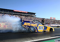 Feb 8, 2015; Pomona, CA, USA; NHRA funny car driver Ron Capps during the Winternationals at Auto Club Raceway at Pomona. Mandatory Credit: Mark J. Rebilas-