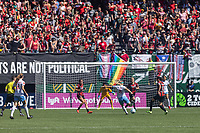 Portland, Oregon - Sunday August 25, 2019: Portland Thorns vs Chicago Red Stars at Providence Park
