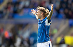 St Johnstone v Motherwell…28.09.19   McDiarmid Park   SPFL<br />Stevie May appeals for a penalty after being brought down by Declan Gallagher<br />Picture by Graeme Hart.<br />Copyright Perthshire Picture Agency<br />Tel: 01738 623350  Mobile: 07990 594431
