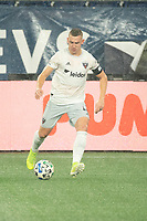 FOXBOROUGH, MA - NOVEMBER 1: Russell Canouse #4 of DC United during a game between D.C. United and New England Revolution at Gillette Stadium on November 1, 2020 in Foxborough, Massachusetts.