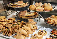 Cafe display of baked goods and sandwiches, Palma de Mallorca, Spain, Europe.