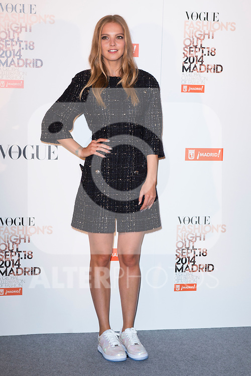 """Laura Hayden attends the """"VOGUE FASHION NIGHT OUT"""" Photocall at Jose Ortega y Gaset street in Madrid, Spain. September 18, 2014. (ALTERPHOTOS/Carlos Dafonte)"""