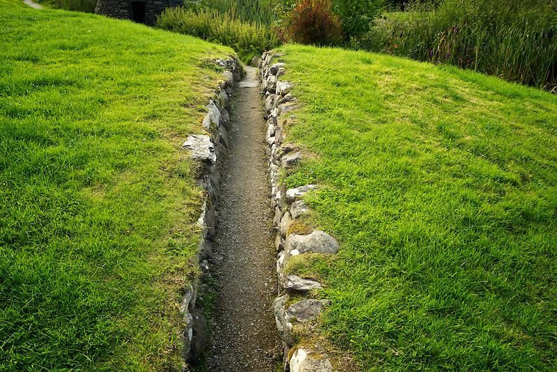 Narrow pathway in Sneem, Ireland