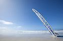 Surf boards at beach. Eyre Peninsula. South Australia.
