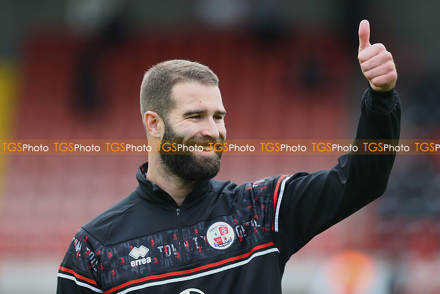 Joe McNerney of Crawley Town warms up ahead of  Crawley Town vs Morecambe, Sky Bet EFL League 2 Football at Broadfield Stadium on 17th October 2020