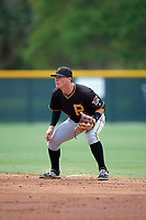 Pittsburgh Pirates Mitchell Tolman (72) during a minor league Spring Training game against the Toronto Blue Jays on March 24, 2016 at Pirate City in Bradenton, Florida.  (Mike Janes/Four Seam Images)