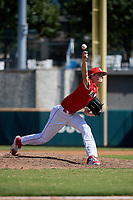 Pitcher Caedmon Parker (14) during the Baseball Factory All-Star Classic at Dr. Pepper Ballpark on October 4, 2020 in Frisco, Texas.  Pitcher Caedmon Parker (14), a resident of Montgomery, Texas, attends The Woodlands Christian Academy.  (Mike Augustin/Four Seam Images)
