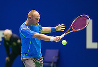 Rotterdam, Netherlands, December 17, 2015,  Topsport Centrum, Lotto NK Tennis, Bart de Gier (NED)<br /> Photo: Tennisimages/Henk Koster