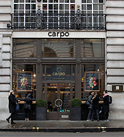 General view of CARPO London store in Regent Street as Beast from the East weather continues at City of London, London, England on 1 March 2018. Photo by Andy Rowland.