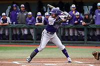 CHAPEL HILL, NC - FEBRUARY 19: Joe Johnson #15 of High Point University waits for a pitch during a game between High Point and North Carolina at Boshamer Stadium on February 19, 2020 in Chapel Hill, North Carolina.