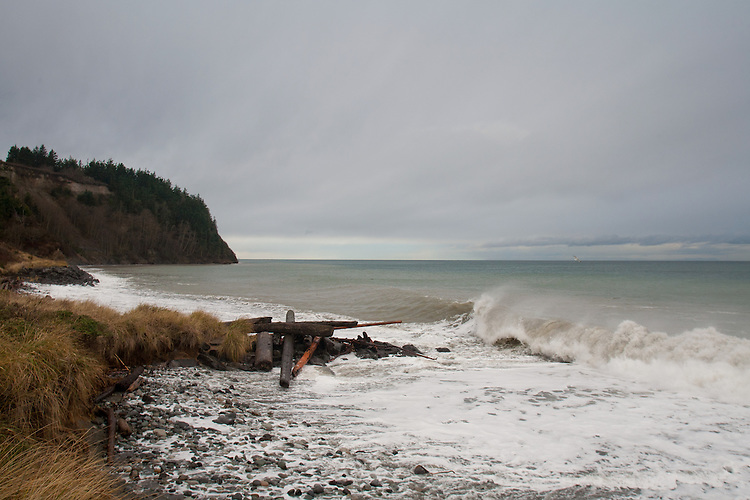 Point Wilson, Port Townsend, wave erosion, Puget Sound, Admiralty Inlet, Washington State, Pacific Northwest, USA,