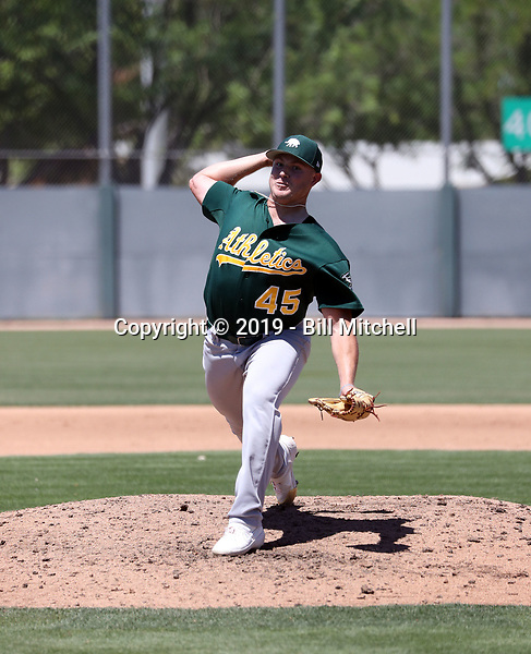 Clark Cota - Oakland Athletics 2019 extended spring training (Bill Mitchell)