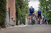 Florian Sénéchal (FRA/Deceuninck - Quick Step) clearing the path for Yves Lampaert (BEL/Deceuninck - QuickStep)<br /> <br /> Heylen Vastgoed Heistse Pijl 2021 (BEL)<br /> One day race from Vosselaar to Heist-op-den-Berg (BEL/193km)<br /> <br /> ©kramon