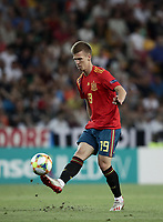 Football: Uefa under 21 Championship 2019 Final, Spain - Germany Dacia Arena, Udine Italy on June 30, 2019.<br /> Spanish Dani Olmo in action during the Uefa under 21 Championship 2019 football match between Spain and Germany at the Dacia Arena in Udine, Italy on June 30, 2019.<br /> UPDATE IMAGES PRESS/Isabella Bonotto