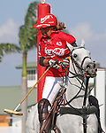WELLINGTON, FL - FEBRUARY 19: Gillian Johnston of Coca Cola looks back to see if her shot crosses the goal line as  Coca Cola 9 defeats Tonkawa 8 in overtime with a Golden Goal on a Penalty 2 by Julio Arellano, in the William Ylvisaker Cup Final, at the International Polo Club, Palm Beach on February 19, 2017 in Wellington, Florida. (Photo by Liz Lamont/Eclipse Sportswire/Getty Images)