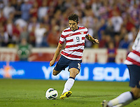 Columbus, Ohio - Tuesday, September 11, 2012: The USA defeated Jamaica 1-0 in the first round of World Cup Qualifying at Columbus Crew Stadium. Herculez Gomez scores on a free kick.