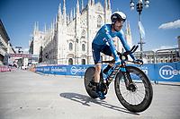Antonio Pedrero (ESP/Movistar) finishing in front of the mighty Duomo in Milano<br /> <br /> 104th Giro d'Italia 2021 (2.UWT)<br /> Stage 21 (final ITT) from Senago to Milan (30.3km)<br /> <br /> ©kramon
