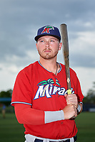 Fort Myers Miracle Ryan Costello (13) poses for a photo before a Florida State League game against the Charlotte Stone Crabs on April 6, 2019 at Charlotte Sports Park in Port Charlotte, Florida.  Fort Myers defeated Charlotte 7-4.  (Mike Janes/Four Seam Images)