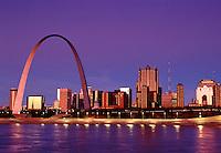 St Louis Gateway Arch at Dawn St Louis Missouri USA