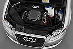 High angle engine detail of a 2005 - 2008 Audi A4 3.2 Sedan.