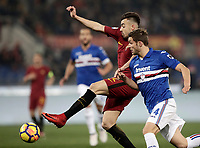Calcio, Serie A: AS Roma - Sampdoria, Roma, stadio Olimpico, 28 gennaio 2018. in action during the Italian Serie A football match between AS Roma and Sampdoria at Rome's Olympic stadium, January 28, 2018.<br /> UPDATE IMAGES PRESS/Isabella Bonotto