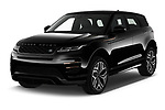 2021 Land Rover Range-Rover-Evoque R-Dynamic 5 Door SUV Angular Front automotive stock photos of front three quarter view