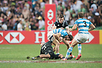 Argentina vs New Zealand during the Plate Final as part of the HSBC Hong Kong Rugby Sevens 2017 on 09 April 2017 in Hong Kong Stadium, Hong Kong, China. Photo by Weixiang Lim / Power Sport Images