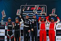 LMP3 Podium, #54 MLT Motorsports Ligier JS P3, LMP3: Dylan Murry, Dakota Dickerson, #4 Ansa Motorsports Ligier JS P3, LMP3: Leo Lamelas, Neil Alberico, #60 Wulver Racing Ligier JS P3, LMP3: Bruce Hamilton, Tonis Kasemets