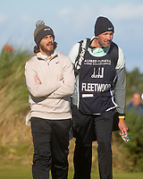 1st October 2021; Kingsbarns Golf Links, Fife, Scotland; European Tour, Alfred Dunhill Links Championship, Second round; Tommy Fleetwood of England and caddie Ian Finnis on the fairway of the sixth hole at Kingsbarns Golf Links