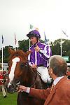 Horse Racing - Leopardstown Racecourse - Irish Champion Stakes.The Aidan O'Brien trained Cape Blanco with Seamie (J A) Heffernan aboard win the The Tattersalls Millions Irish Champion Stakes at Leopardstown Racecourse in Dublin.