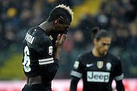 Paul Pogba delusione Juventus.Calcio Parma vs Juventus.Campionato Serie A - Parma 13/1/2013 Stadio Ennio Tardini.Football Calcio 2012/2013.Foto Federico Tardito Insidefoto.