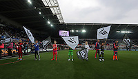 The guard of honour. Barclays Premier League match between Swansea City and Tottenham Hotspur played at The Liberty Stadium, Swansea on October 4th 2015