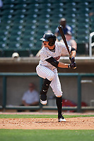 Birmingham Barons right fielder Jameson Fisher (7) at bat during a game against the Pensacola Blue Wahoos on May 9, 2018 at Regions FIeld in Birmingham, Alabama.  Birmingham defeated Pensacola 16-3.  (Mike Janes/Four Seam Images)