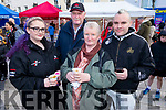Richard, Helen and Eilish O'Callaghan with Liam Costello from Ballyduff sampling the delights of Chinese food at the Lion & Dragon Ritual for the Chinese New Year celebrations in the square in Tralee on Saturday.