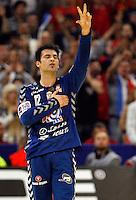 Serbian national handball team goalkeeper Darko Stanic during men`s EHF EURO 2012 championship semifinal handball game between Serbia and Croatia in Belgrade, Serbia, Friday, January 27, 2011.  (photo: Pedja Milosavljevic / thepedja@gmail.com / +381641260959)