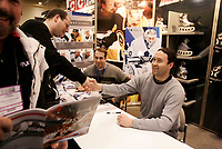 Jan 23 2005 Toronto (Ontario) CANADA<br /> Maple Leafs Hockey PLayer Ed Belfour meet eith fans  at the Hockey Show, Jan 23 2005 in Toronto, canada<br /> Photo (c) 2005 P Roussel / Images Distribution