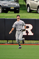 Connecticut Huskies outfielder Billy Ferriter (3) during game against Rutgers Scarlet Knights at Bainton Field in Piscataway, New Jersey;  April 29, 2011.  Rutgers defeated Connecticut 8-3.  Photo By Tomasso DeRosa/Four Seam Images
