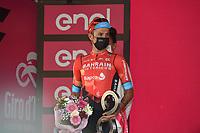 30th May 2021; 104th Giro d Italia 2021, 21st stage Senago to Milan, Italy;  Bahrain - Victorious Caruso, Damiano Milano - celebrates on the podium