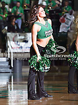 North Texas Mean Green dance team memebers in action during the NCAA  basketball game between the Florida International University Panthers and the University of North Texas Mean Green at the North Texas Coliseum,the Super Pit, in Denton, Texas. UNT defeated FIU 87 to 77