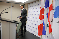 and William Francis Morneau, Minister of Finance, Canada<br />  (L) Angel Gurria, Secretary-General, Organisation for Economic Co-operation and <br /> Development (OECD) (R) <br /> attend the Launch by the Organisation for Economic Co-operation and Development (OECD) <br /> of Their Economic Survey of Canada 2016 during the 22nd edition of the Conference of Montreal, held June 13 to 15, 2016<br /> <br /> PHOTO : Pierre Roussel -  Agence Quebec Presse