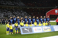 Soccer Football - 2018 World Cup Qualifications - Europe - Italy vs Sweden - San Siro, Milan, Italy - November 13, 2017<br /> Italy's team line up before the match between Italy and Sweden at the San Siro Satdium in Milan on November 13, 2017.<br /> UPDATE IMAGES PRESS/Isabella Bonotto
