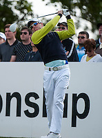 21.05.2015. Wentworth, England. BMW PGA Golf Championship. Round 1.  Matt Ford [ENG] on the first tee during the first round of the 2015 BMW PGA Championship from The West Course Wentworth Golf Club