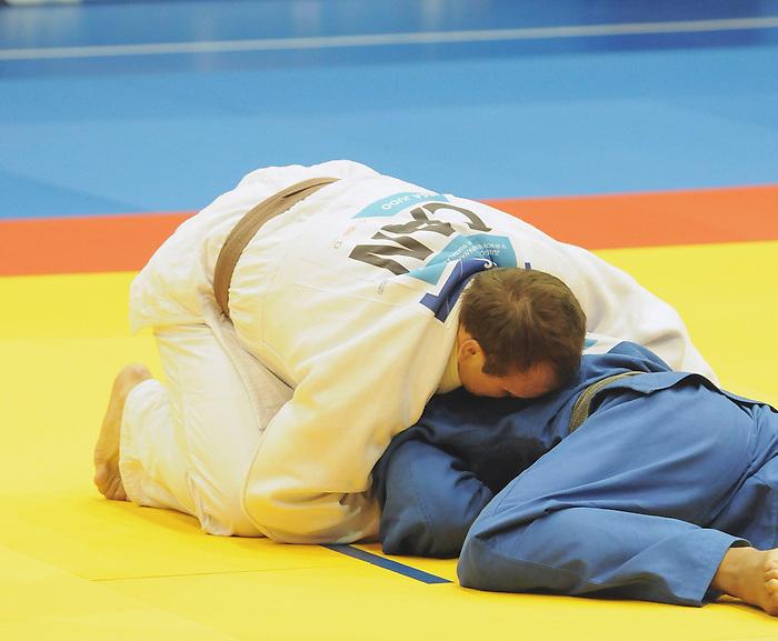 Timothy Rees, Guadalajara 2011 - Para Judo // Parajudo.<br /> Timothy Rees of Canada competing against Antonio Tenori of Brazil in Para Judo // Timothy Rees du Canada affronte Antonio Tenori du Brésil en para judo. 11/18/2011.