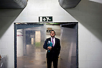 Jonathan Parker, Catering Director at Wimbledon, The All England Lawn Tennis Club (AELTC), London, in the catering storage area under No1 Court..  .